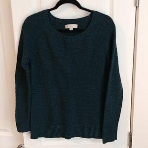 Dark green LOFT sweater